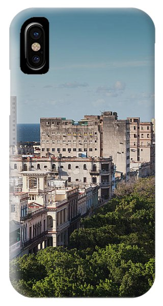 Cuba, Havana, Havana Vieja, Buildings Phone Case by Walter Bibikow