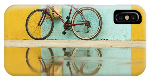 Bicycle iPhone X Case - Cuba, Trinidad Bicycle And Reflection by Brenda Tharp
