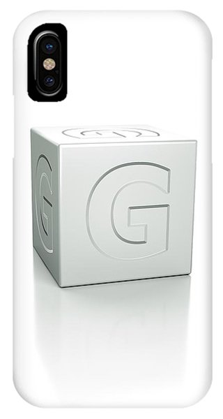 Cube With The Letter G Embossed Phone Case by David Parker/science Photo Library