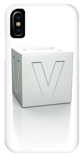 Cube With The Letter V Embossed Phone Case by David Parker/science Photo Library