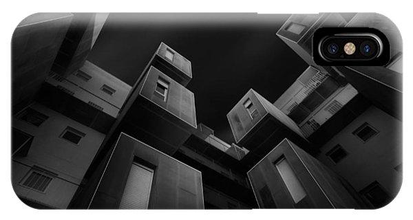 Facade iPhone Case - Cubes by Alfonso Novillo