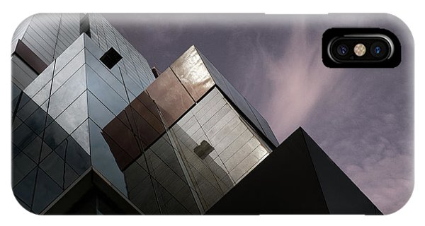 Facade iPhone Case - Cubic Reflection. by Harry Verschelden