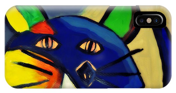 Cubist Inspired Cat  IPhone Case