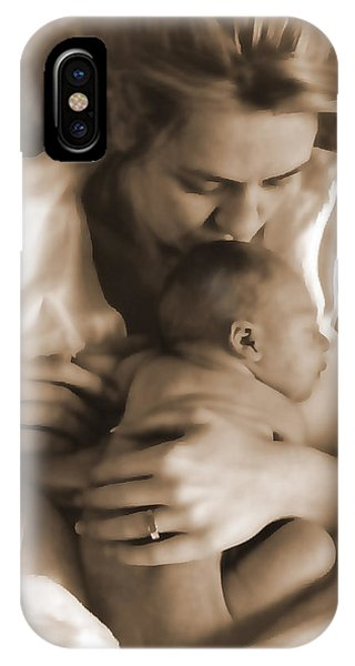Cuddling With Mom IPhone Case