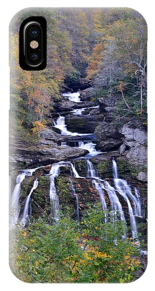 Cullasaja Falls Phone Case by Mary Anne Baker