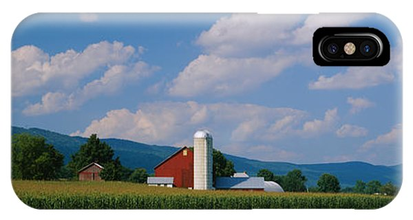 Amish iPhone Case - Cultivated Field In Front Of A Barn by Panoramic Images