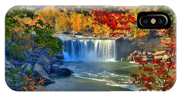 Cumberland Falls In Autumn 2 IPhone Case