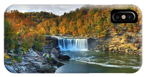 Cumberland Falls In Autumn IPhone Case