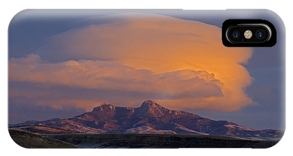 Cumulus Cloud Cap Over Heart Mountain   #2022 IPhone Case