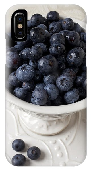 Blue Berry iPhone Case - Cup Full Of Blueberries by Garry Gay