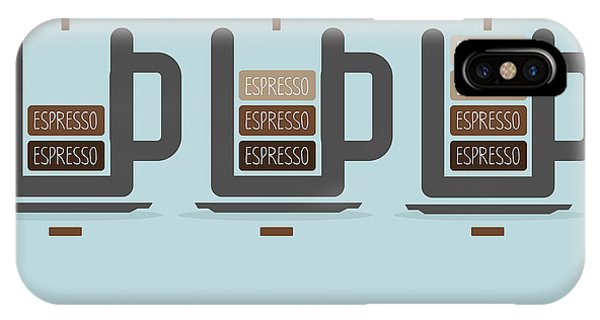 Vector Graphics iPhone Case - Cup Of Coffee Battery by Triangle C