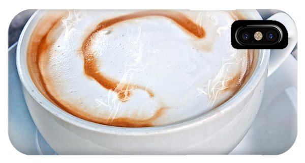 Cup Of Coffee Latte With Letter C  IPhone Case