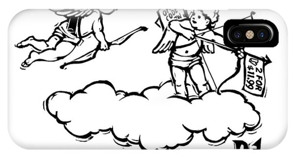 Cupid's Twin Shoots Coupons From Up On A Cloud IPhone Case