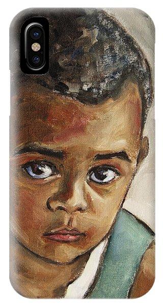Curious Little Boy IPhone Case