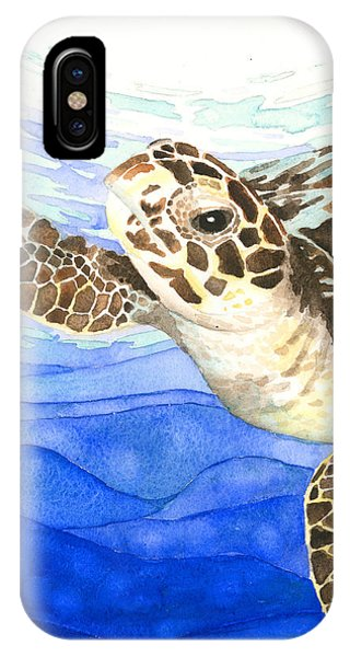 Curious Sea Turtle IPhone Case