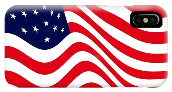 4th July iPhone Case - Current American Flag Cropped X 2 Wide by L Brown