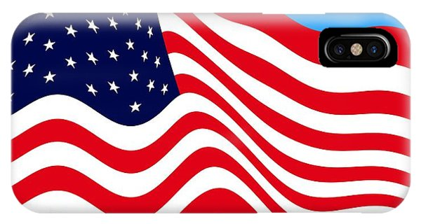 4th July iPhone Case - Current American Flag Flying Cropped by L Brown