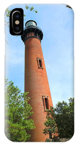 Currituck Beach Lighthouse Corolla North Carolina Outer Banks Obx IPhone Case