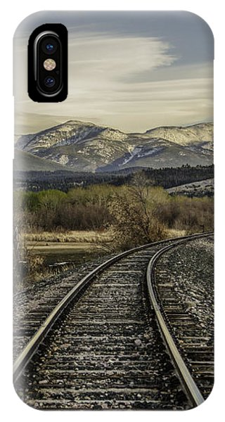 Curve In The Tracks IPhone Case