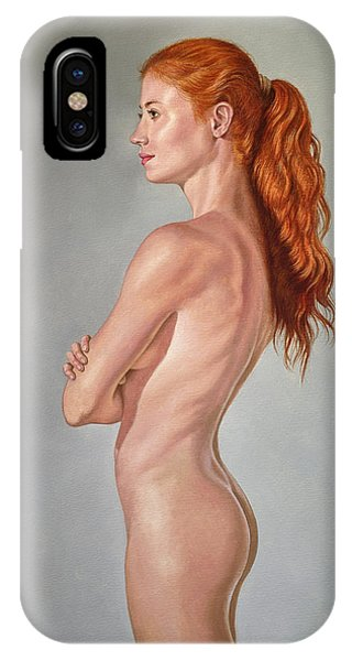 Red Hair iPhone X Case - Curves by Paul Krapf