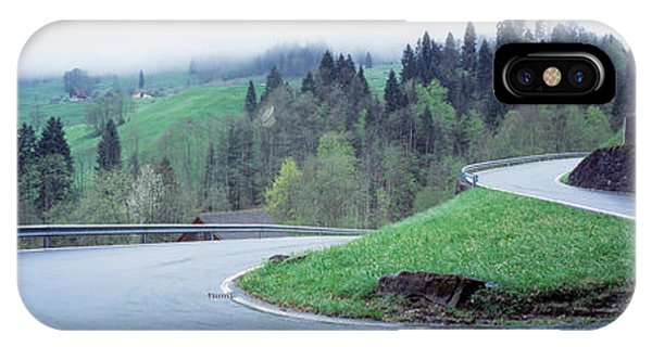 Curving Road Switzerland IPhone Case