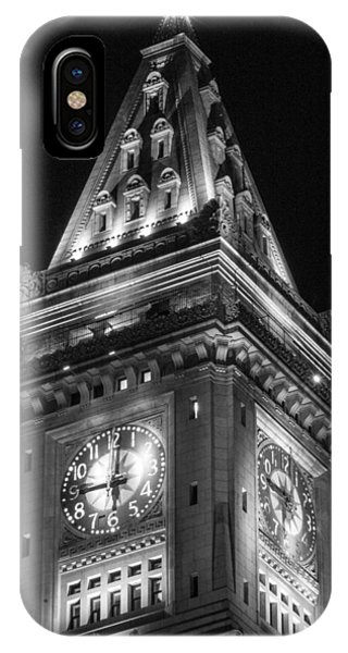 Custom House In Boston Black And White IPhone Case