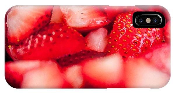 Cut Strawberries IPhone Case
