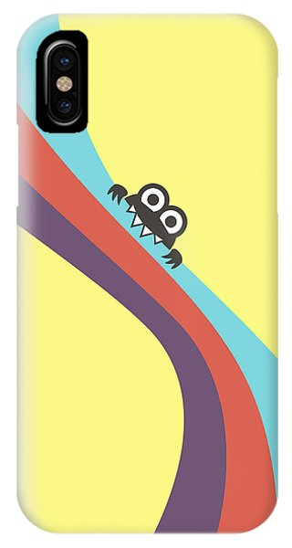 Cute Bug Bites Candy Colored Stripes IPhone Case