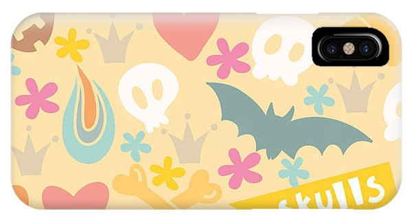 Danger iPhone Case - Cute Cartoon Seamless Pattern With by Marushabelle