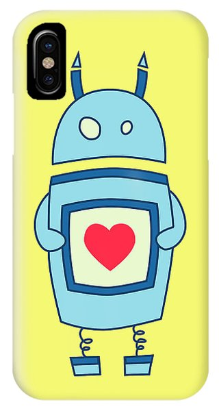 Cute Clumsy Robot With Heart IPhone Case