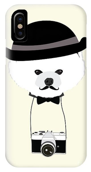 Ben iPhone Case - Cute Dog Photographer With Old Camera by The Cute Design Studio