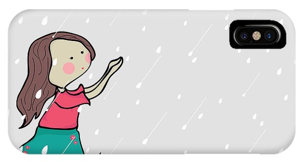 Cause iPhone Case - Cute Little Girl Enjoying Rains On by Allies Interactive
