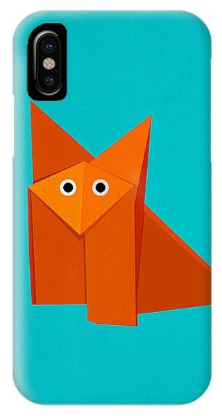 Cute Origami Fox IPhone Case