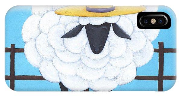Sheep iPhone X / XS Case - Cute Sheep Nursery Art by Christy Beckwith