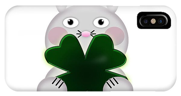 St. Patricks Day iPhone Case - Cute St. Patricks Day Bunny Proud To Be Irish by Shelley Neff