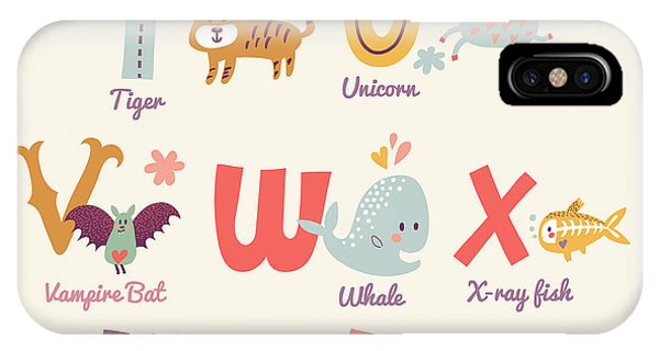 Humor iPhone Case - Cute Zoo Alphabet In Vector. T, U, V by Smilewithjul