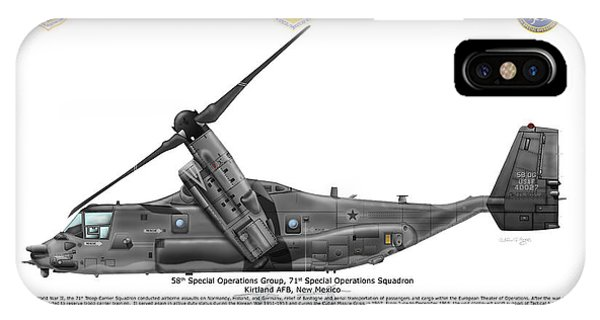 Cv-22b Osprey 71st Sos IPhone Case