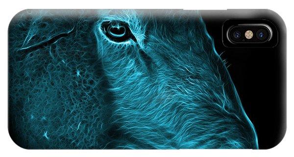 Dorset iPhone Case - Cyan Polled Dorset Sheep - 1643 F by James Ahn