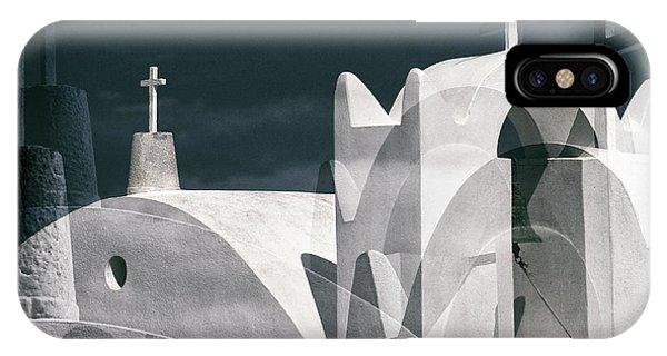 Rooftops iPhone Case - Cycladen Crosses by Hans-wolfgang Hawerkamp