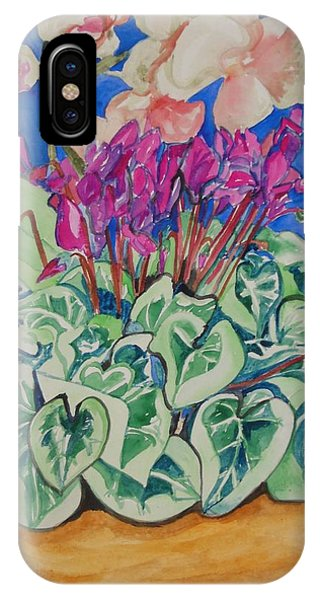 Cyclamen And Orchids In A Flower Pot IPhone Case