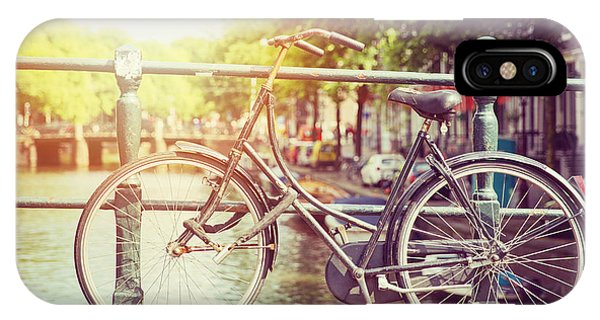 Bike iPhone Case - Cycle In Sun by Jane Rix