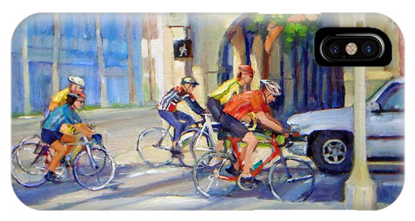 Cycling Past The Archway IPhone Case