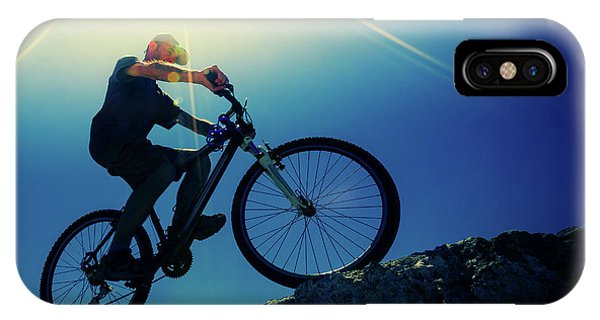 Cyclist On Bike Phone Case by Wladimir Bulgar