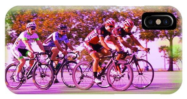 Sports Clothing iPhone Case - Cyclists by Doug Walker