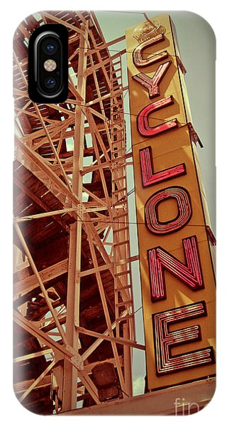 Attraction iPhone Case - Cyclone Roller Coaster - Coney Island by Jim Zahniser
