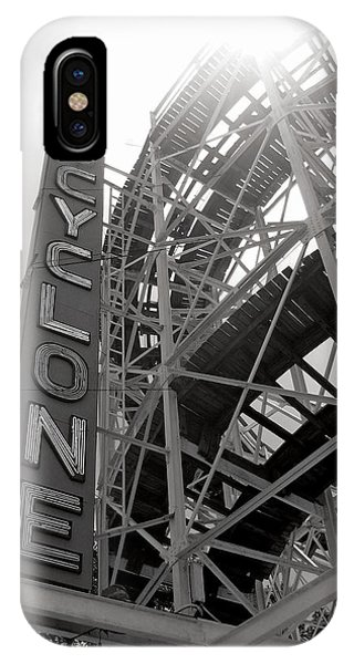 Attraction iPhone Case - Cyclone Rollercoaster - Coney Island by Jim Zahniser