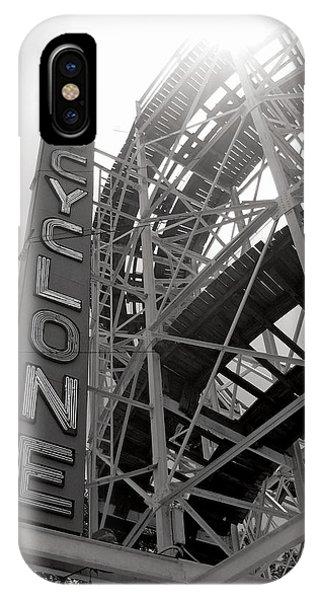 Seashore iPhone Case - Cyclone Rollercoaster - Coney Island by Jim Zahniser