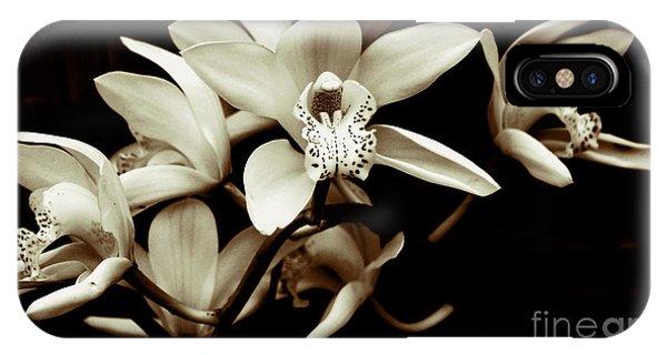 Cymbidium Orchids IPhone Case