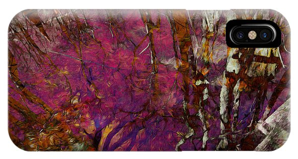 Cypress Swamp Abstract #2 IPhone Case