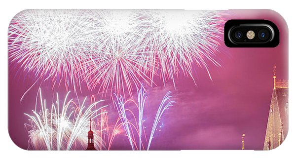 Fireworks iPhone Case - Czech Republic, Prague - New Years by Panoramic Images